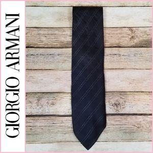 Giorgio Armani Striped Wool & Silk Blend Tie